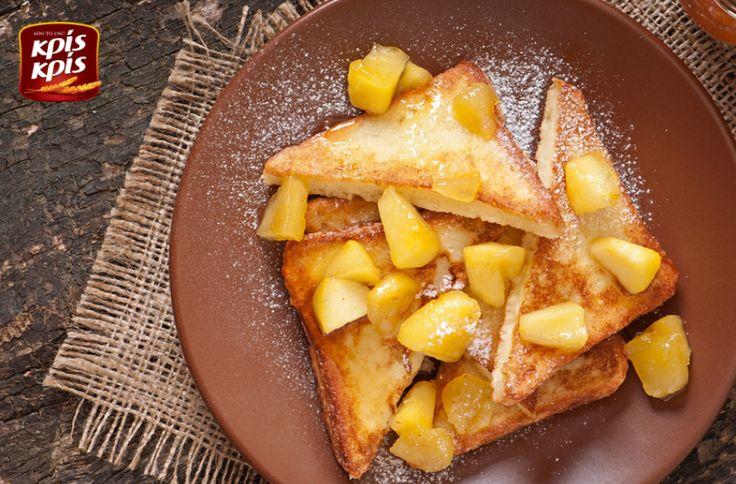 Κρις Κρις με μέλι, καραμελωμένο ανανά και άχνη ζάχαρη... σκέτη απόλαυση!