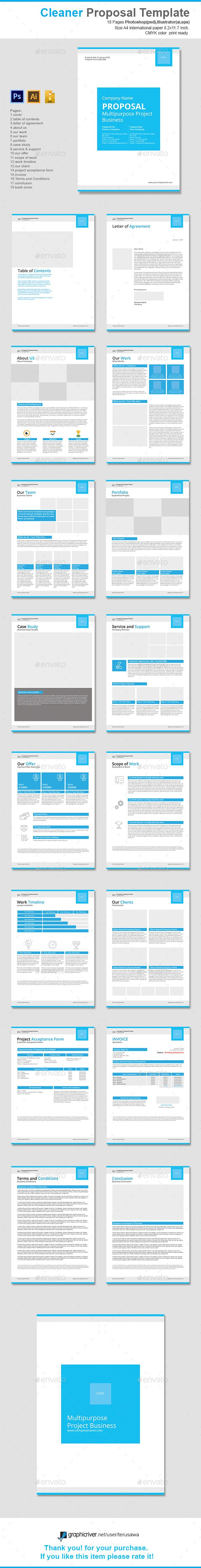 Cleaner Proposal Template. Download here: http://graphicriver.net/item/cleaner-proposal-template/16037208?ref=ksioks