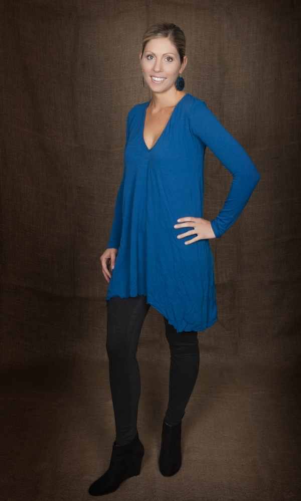Vigorella Long Sleeved Tunic In Inky Blue from Picsity.com