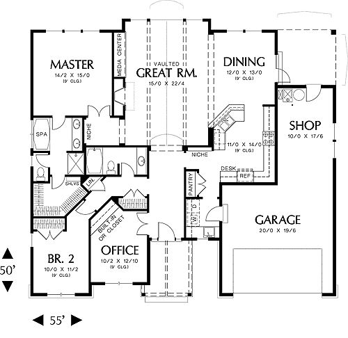 1st Floor Plan Image Pendleton Plan 1817 Sq Ft Move