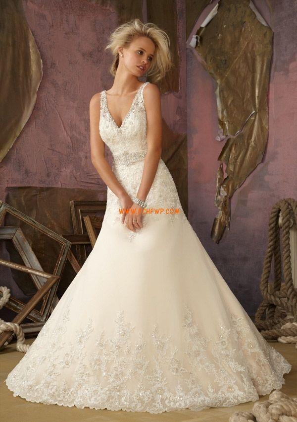 Sal V-hals Plus Sizes Bryllupskjoler 2013