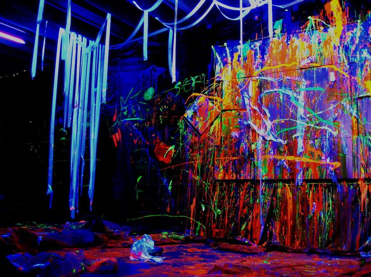 Black light paint party ideas the image for Black light room paint
