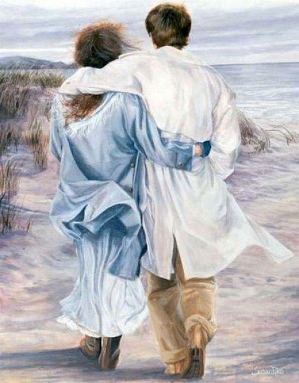 SUSAN RIOS EARLY MORNING STROLL ON THE BEACH, SO ROMANTIC
