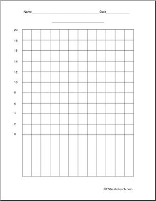 Blank Bar Graph (to 20 by 2s)  Make your own graphs with