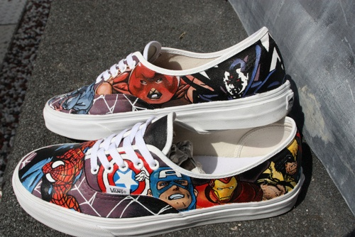 Marvel. - these would be cooler if the laces and trim were black instead of white.