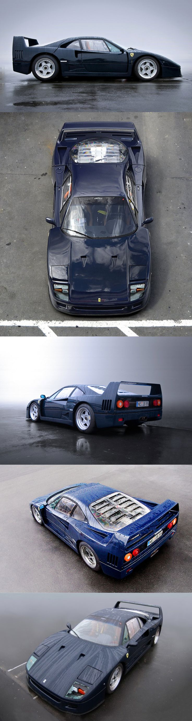 1987 Ferrari F40 / Blu Pozzi / blue / Italy / 17-400