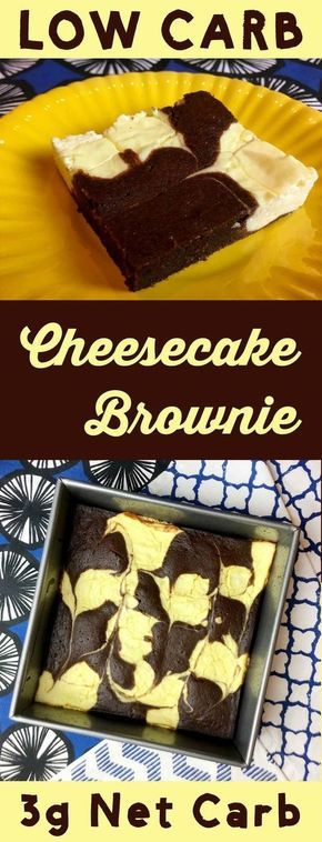This low carb dessert is the best of both worlds. It's half brownie and half cheesecake. It's Atkins, Banting, THM, LCHF, Sugar Free and Gluten Free. #Lowcarb #lowcarbdiet #keto #ketogenic #LCHF #diet #best #glutenfree #sugarfree
