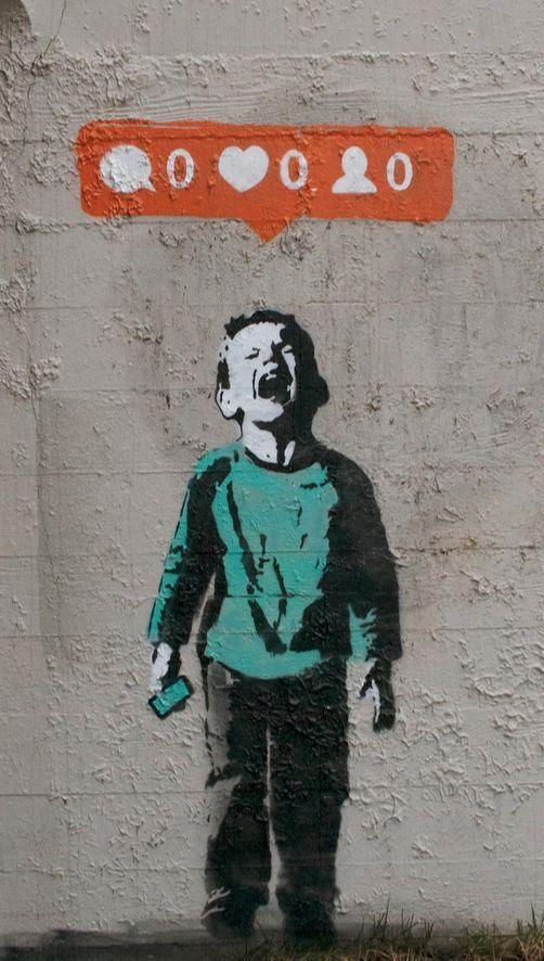 Cuando el #Streetart denuncia el papel que ya juegan las Redes Sociales en nuestras vidas...
