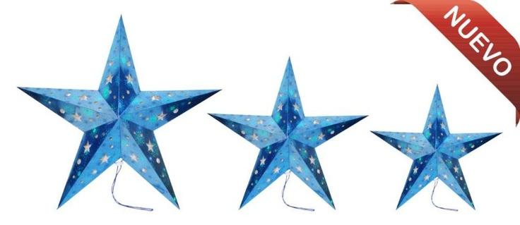 Estrellas decorativas para la decoración de tu hogar en la temporada navideña.