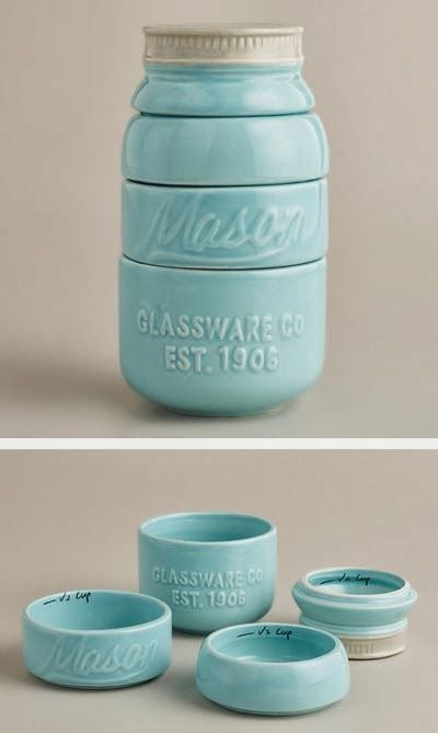 mason jar measuring cups.