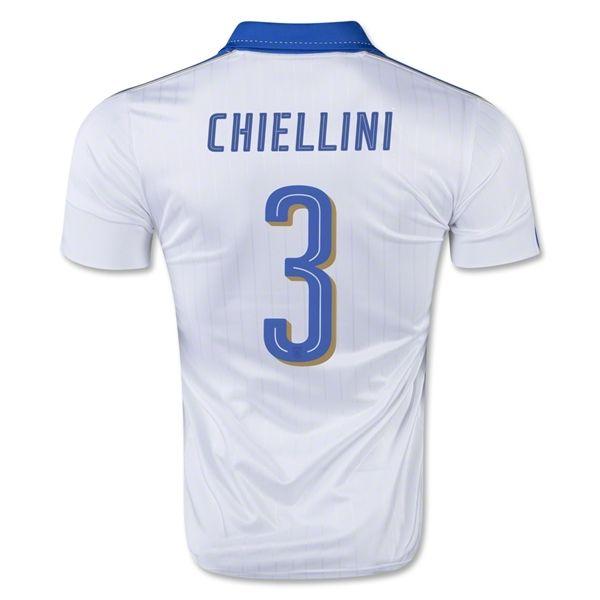 Le Nouveau Maillot football Euro 2016 Italie blanc CHIELLINI 3 Exterieur
