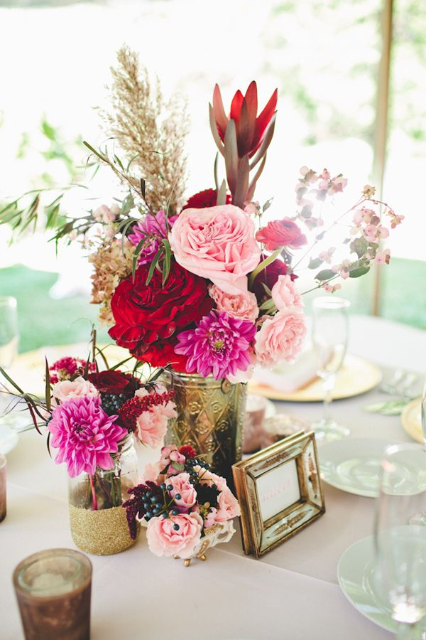 Best pink centerpieces ideas on pinterest