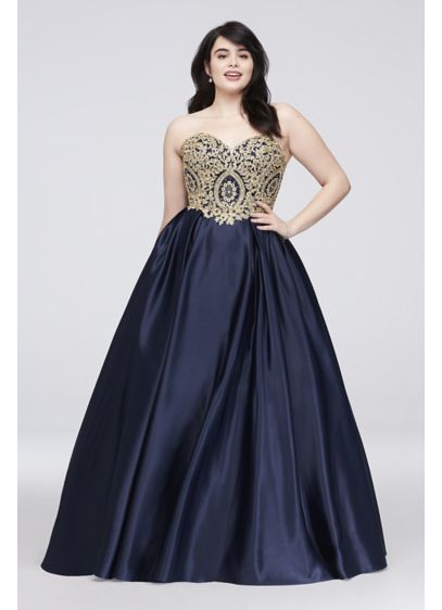 7165fe04787 Long Ballgown Strapless Formal Dresses Dress - Betsy and Adam