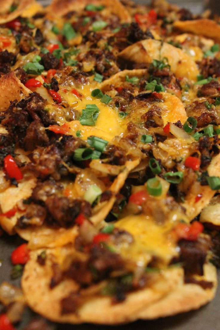 I made these Brisket Nachos with my leftover brisket! It was sooo freaking good. My family wants me to make brisket  all the time JUST so that I can make these nachos.