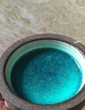 Vintage Danish Modern Knabstrup Turquoise Stoneware Bowl Richard Manz Ceramic
