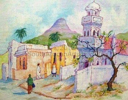 Rosemary Girardi - The Blue Mosque, Bo-Kaap   Traditional Art Art ...