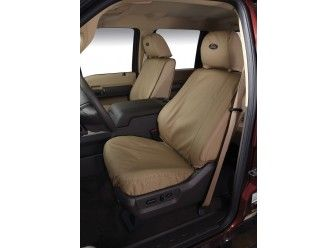 Seat Saver Traditional Seat Covers by Covercraft - Rear, Taupe