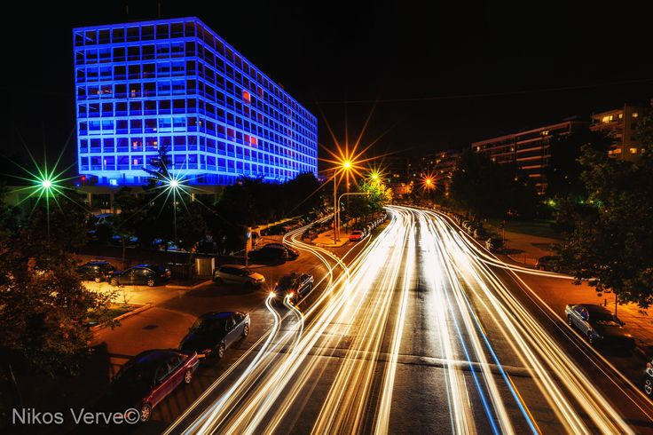 Makedonia Palace and traffic lights