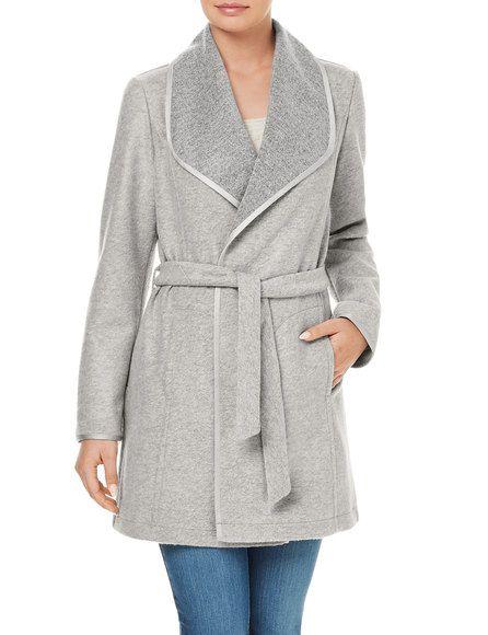 Coat with a voluminous collar, berber buy now | GERRY WEBER