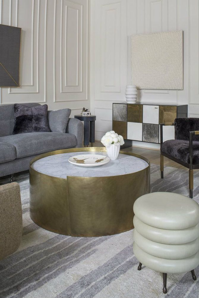Kelly Wearstler's furniture collection. Luxury Living Rooms Designed by KWearstler ALTA COFFEE TABLE Burnished bronze sculpted pieces with inlaid marble