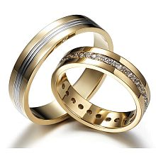 Artistic Chic - Wedding rings, a wonderful combination of gold and diamonds