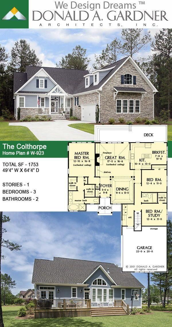 House Plans The Colthorpe Home Plan 923 The Colthorpe House Plan 923 Although The Exterior Le Craftsman House Plans Small Farmhouse Plans Farmhouse Plans