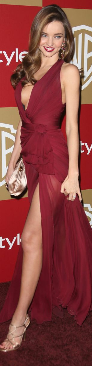 Miranda Kerr sports the colour red wonderfully! Take this look to the next level with Brilliance diamond studs! :)