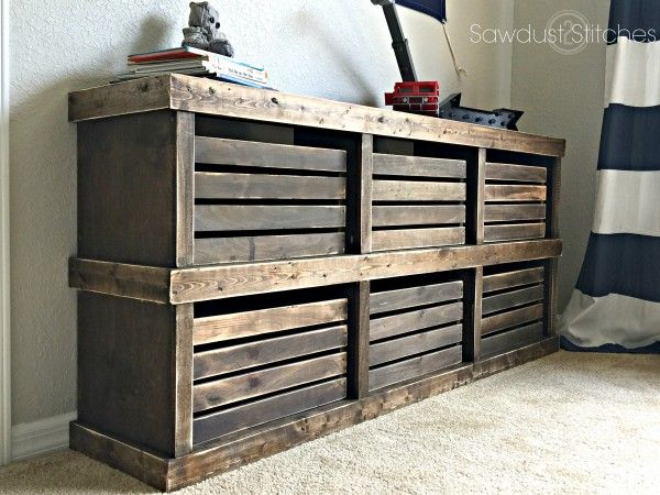 Crate dresser plans- would use for entryway shoe storage and probably put some handles on each crate...