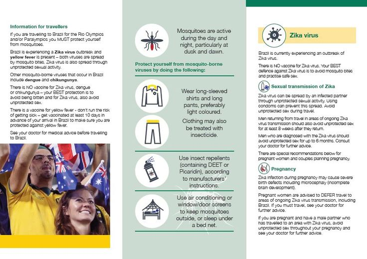 Aussies Watch Out For Mozzies In #RIO2016 Brochure (Part 2). For more information visit http://www.health.gov.au/rio2016