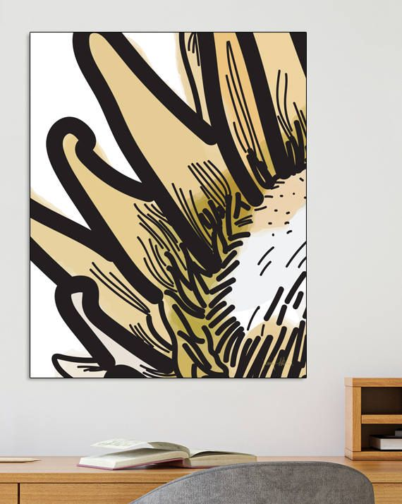 "Protea large wall art Modern protea print Printable wall art USE THE CODE ""HUNKYDORY"" TO RECEIVE 30% OFF!"