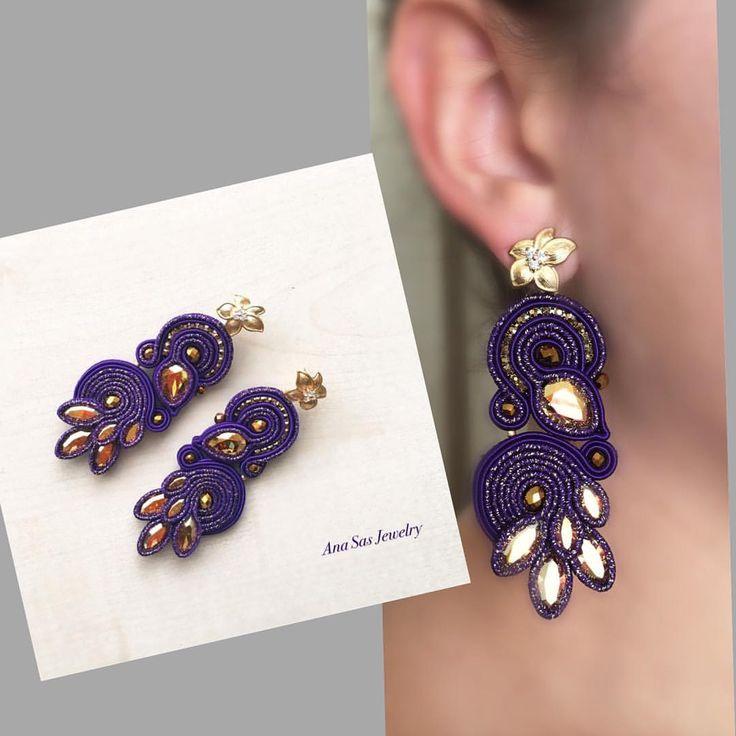#statementjewelry #statementearrings #handmadejewelry #handmade #fattoamano #cercei #earring #pendientes #orecchini #swarovskicrystals #swarovski #fashionstatement #fashionaccesories #soutache #madeinromania #fashionaccesories
