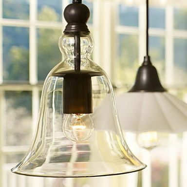 60W E27 Pendent Light with Glass Shade - USD $ 129.99