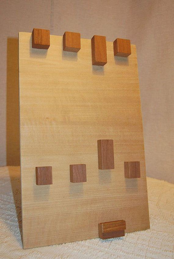 Modern Raw Wood Jewelry Display Hanger Stands or Hangs door 3crows