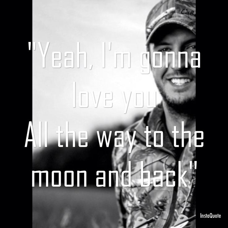 "Luke Bryan's new song ""To the moon and back"" LOVE it!! Such a sweet love song ❤️"