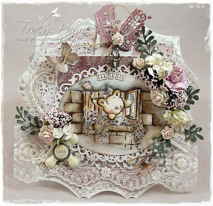 Card by LLC DT Member Tracy Payne, using papers from Maja Design and an image from LOTV.
