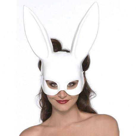 Masque de lapin blanc de Leg Avenue.