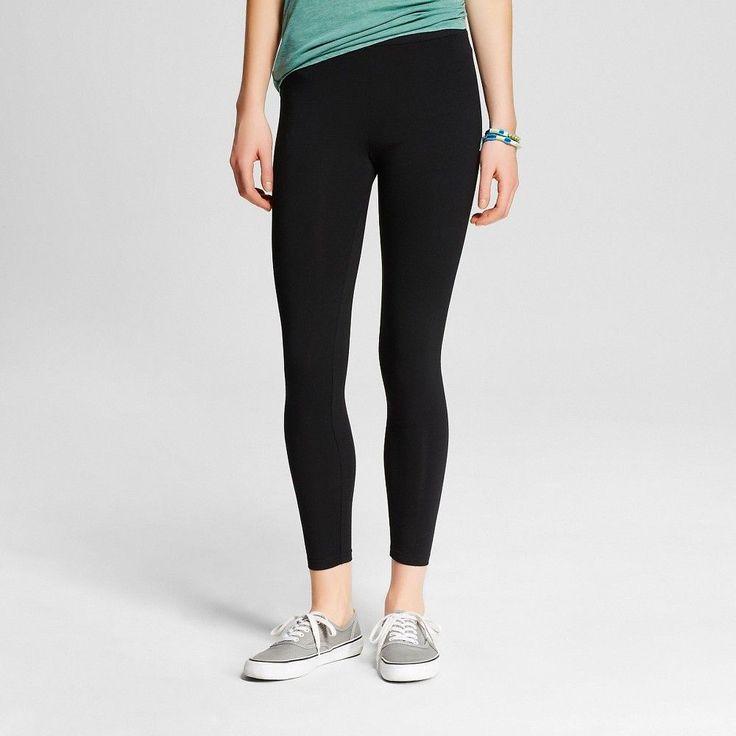 Women's Capri Legging Black S- Mossimo Supply Co. (Juniors'), Size: Small