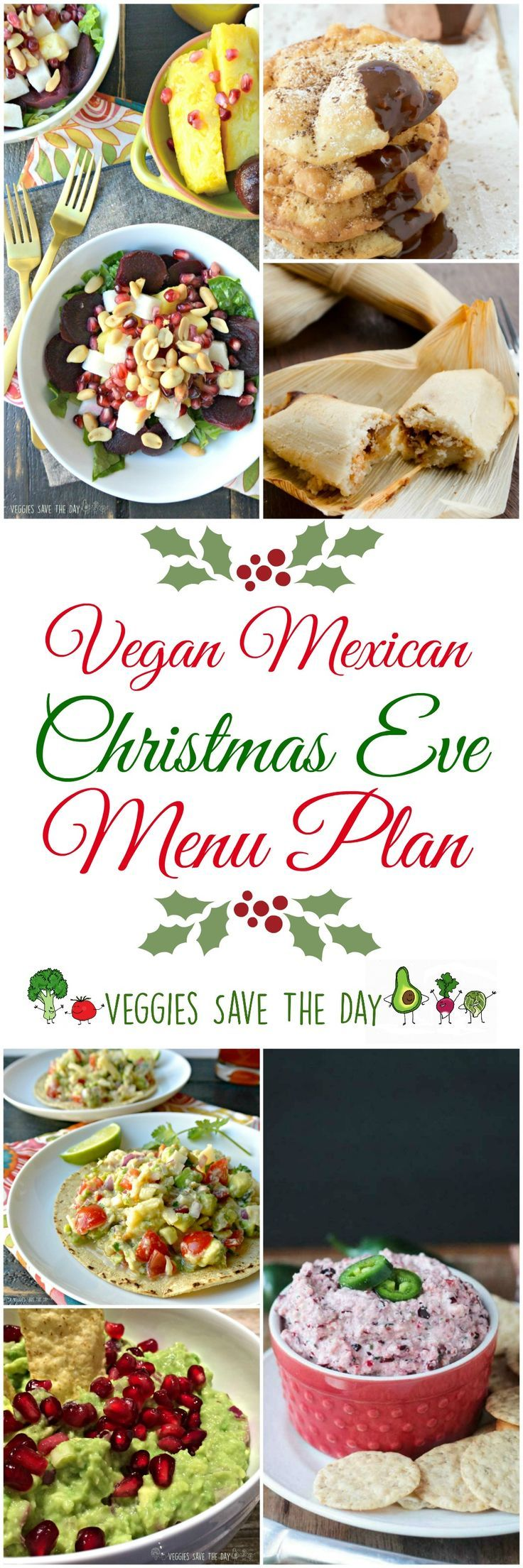 Celebrate the holidays California-style with this easy Vegan Mexican Christmas Eve menu plan featuring vegan tamales and colorful festive side dishes.