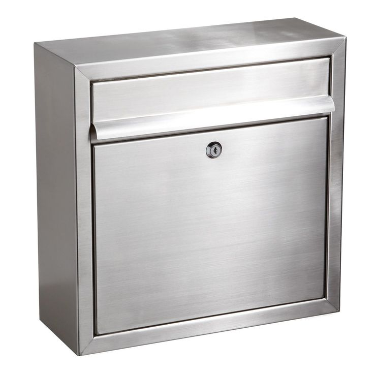 Aura Locking Wall-Mount Mailbox - Stainless Steel - Mailboxes and Slots - Outdoor