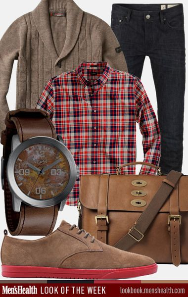 Here's how to master mixing neutrals with subtle pops of color. Jeans: All Saints Shirt: J Crew Cardigan: Ben Sherman via Piperlime Watch: Nixon Bag: Mulberry via Mr. Porter Shoes: Clae