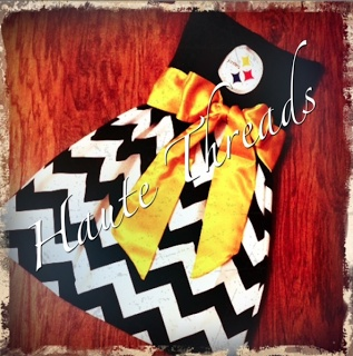 DEFINITELY WONT BE STEELERS but super cute Idea for DIY sports dress from tshirt!...I am making this for next season!!!
