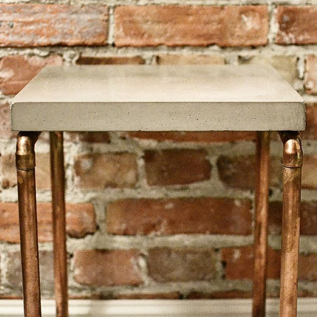 The signature J.Monier nightstand  #concrete #concretedesign #concretetable #nightstand #traditional #inspiration #quality #handcrafted #handmade #interior #interiordesign #norwegian #norwegiandesign #madeinoslo #oslo #copper #copperpipe #sthanshaugen #modern #modernart #moderndesign #moderncraft #local #localbrand #table #home #bedroom