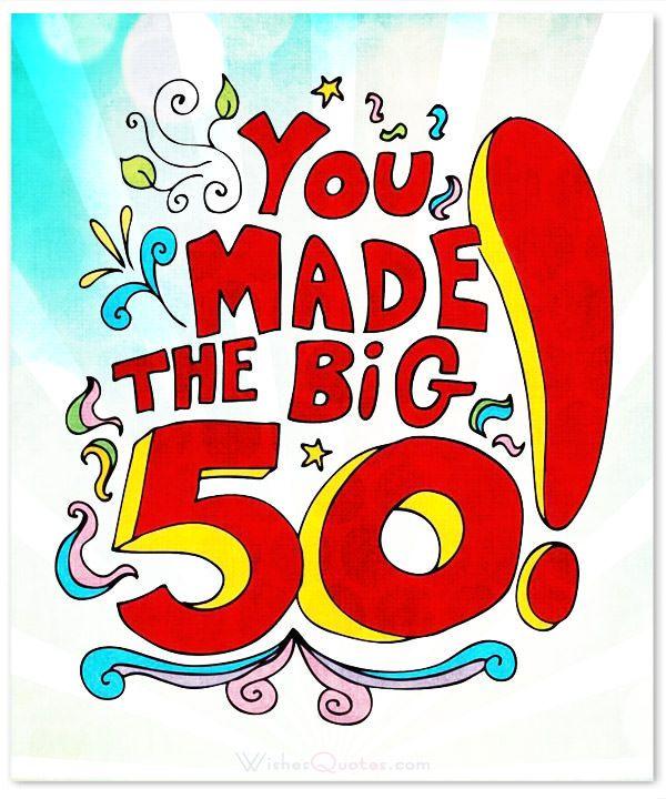 50th Birthday Greetings, 50th
