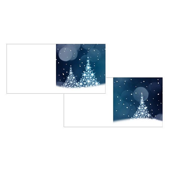 Instant download Printable Blue Christmas gift cards by KatiMolin