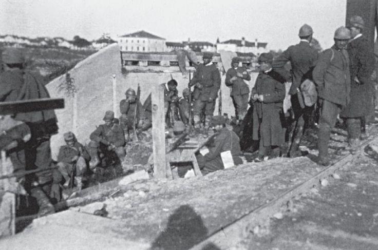 1918 Immagine del ponte ferroviario di Latisana