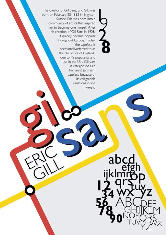 Gill Sans | Type Poster by shafuholic
