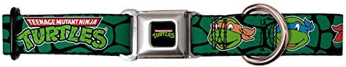 Teenage Mutant Ninja Turtles Faces on Shell Background 1526 Dog Collar -- You can get additional details at the image link.