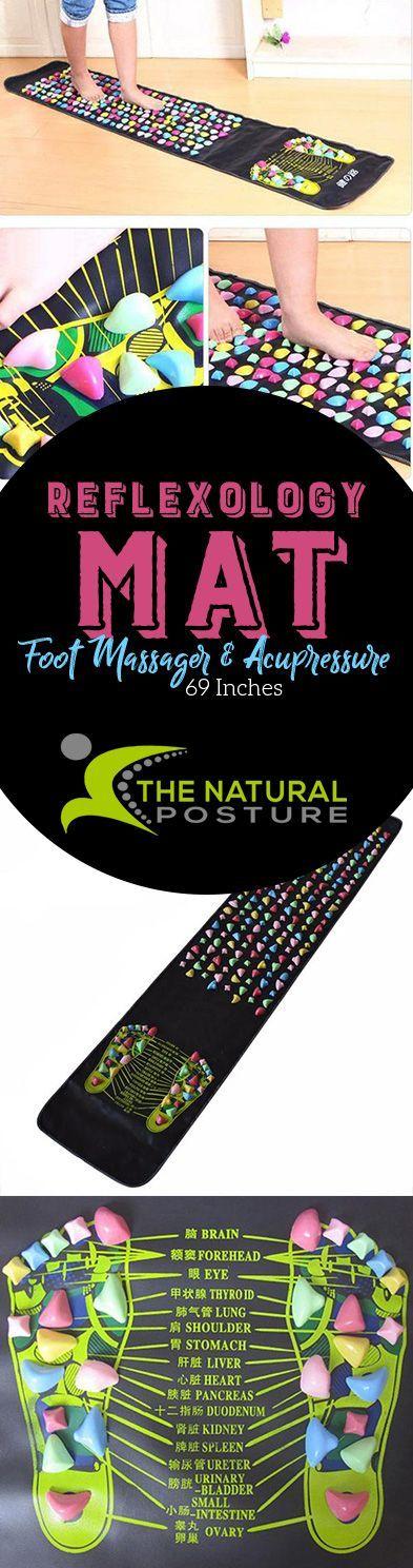 Reflexology Mat Walk Stone Foot Massager & Acupressure 30 Inches #massagefacts