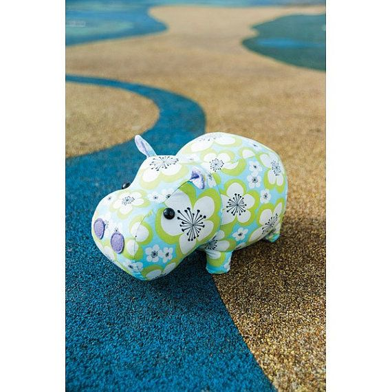 From Stitch Craft Create on Etsy, Mary the Hippo toy sewing pattern.  Easy to follow pattern and instructions!