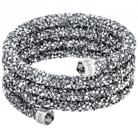 Swarovski Crystaldust Wide Bangle - Gray - 5292443, Women's
